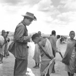 Hillman arrives at one of his first Maasai schools