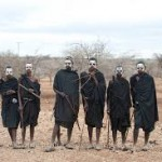 Newly circumcised boys wearing their unique black clothing
