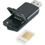 The sim card can also be inserted into a USB stick to connect a computer to the internet.
