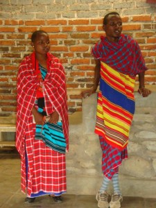 Our two teachers, Lenkangu and Fabi